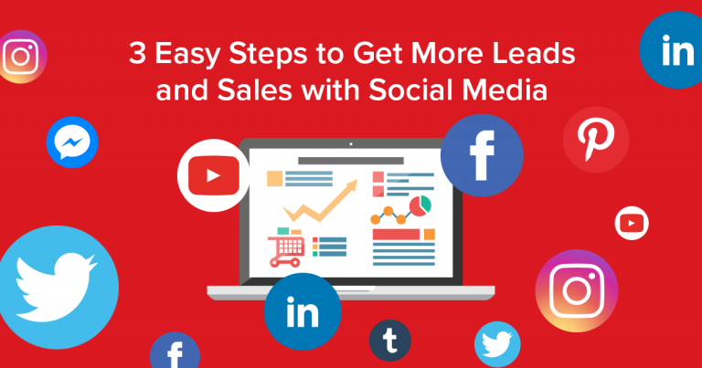 3 Easy Steps to Get More Leads and Sales with Social Media